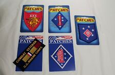 Lot of 5 Patches Combat Veteran Marines Raider 1st 3rd NEW Jacket Military USA