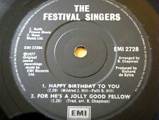 THE FESTIVAL SINGERS - HAPPY BIRTHDAY TO YOU / FOR HE'S A JOLLY GOOD FELLOW