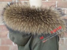 GENUINE REAL Nyctereutes procyon fin raccoon fur  SCARF STOLE COLLAR WRAP SHAWL