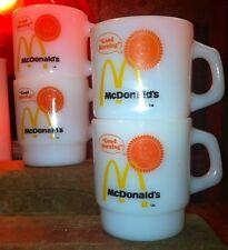 FOUR MINT Vintage Fire King McDonalds Restaurant Ware D Handle Stacking Mug BEST