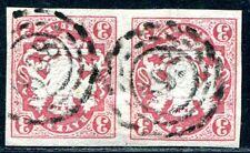 BAYERN 1867 15 gestempelt PAAR oMR 698 (A9388