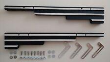 Black Aluminum FINNED 9.5 mm Spark Plug Wire Valve Cover Looms street rod sbc