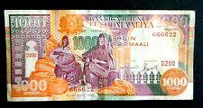 ★★ SOMALIE ● RADAR VARIETE ● BILLET DE 1000 SHILLINGS 1996 ● SUP ★★