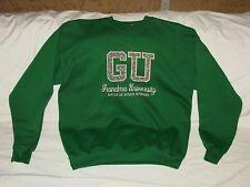 Womens GU Grandma University Embroidered Floral Sweatshirt Grandmother L 42-44