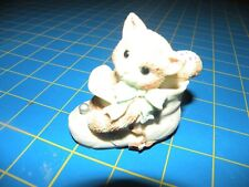 "Enesco Calico Kittens ""Celebrate Every Baby Step"" Kitten In Baby Shoe 314528"