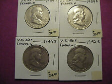 US Franklin Half dollars