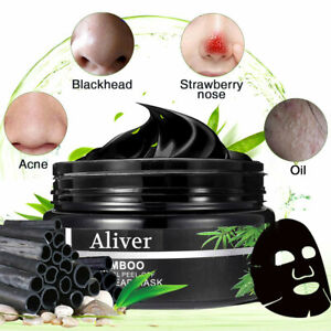 Acne Blackhead Bamboo Charcoal Peel Off Black Mask Pores Cleansing Black Mask