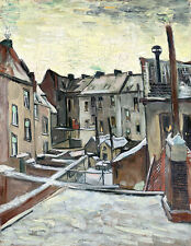 Houses Seen from the Back by Vincent van Gogh A2 High Quality Art Print