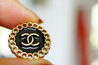 Stamped Authentic Chanel Button 1 pieces black gold 20 mm 0,8 inch💋 cc