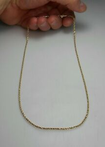 """14K SOLID GOLD 20"""" Awesome Diamond Cut Rope Link Chain Necklace NEW NEVER WORN"""