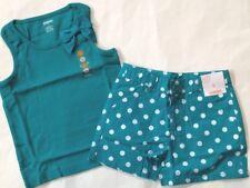 Nwt Gymboree 2pc Outfit Summer Green Bow Tank/Polka D 00006000 ot Shorts Adj Girl 5