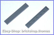 Lego 2 x Fliese grau (1 x 6) - 6636 - Tile Tiles Dark Bluish Gray - NEU / NEW