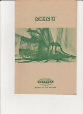 "New York Central ""New England States"" Dinner Menu 1950's"