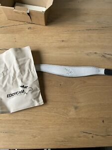 EDDYCAM 42mm weiß - Schwarz Art. Nr. 8401 Neu! Kameragurt Elchleder