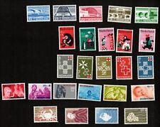 Netherlands 5 Complete Sets Scott# B 414-38 Vf Nh Stamps