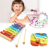 Classic Wooden Xylophone Piano Toy Musical Instrument 8-Note Kid Baby Child Gift