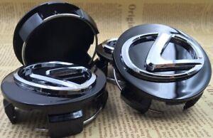 """Black Lexus F 2.5"""" Center Caps 62mm Hub Caps FITS: ALL 2006-2020 LEXUS MODELS"""