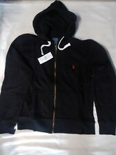 NEW POLO RALPH LAUREN MENS CLASSIC FLEECE HOODIE  BLACK COLOR SIZE S/M/L/XL