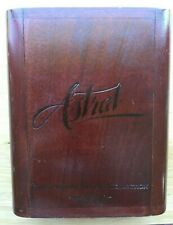 Astral Wood Cigar Box Mahogany Storage Case Grand Reserve Vintage 1992 w/ Tubes