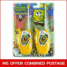 Spongebob Schwammkopf ELEKTRONISCHER Walkie Talkie Spielset Kid Kind Junge Mädchen Spielzeug