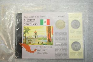 1923 Mexican Silver Peso American Historical Society Mexico Dollars of the World