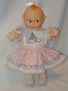 "11"" Jesco Vinyl Kewpie Doll Dressed"