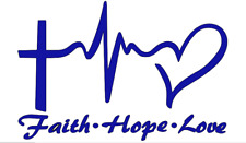 Faith, Hope, Love Decal, Vinyl Decals