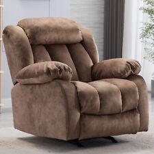 New ListingManual Recliner Rocking Chair Baby Nursery Glider Padded Seat Sofa Living Room