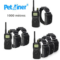 Collier de dressage de chien 1000m  rechargeable jusqu'a 3 chiens