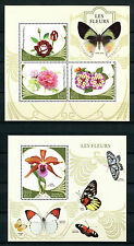 Madagascar 2016 MNH Flowers & Butterflies 3v M/S + 1v S/S Roses Orchids Stamps