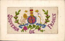 World War 1 Silk. Souvenir de France.