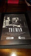 Truman Gary Sinise Rare Original Kansas Film Commission Promo Poster Ad Framed!