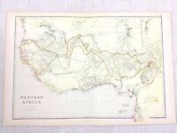 1888 Antik Map Of West Afrika Western Sahara Wüste 19th Jahrhundert Blackie &