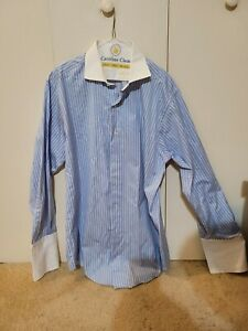 Vtg Brooks Brothers Made In USA Striped Button Down Dress Shirt 16 34. See desc.