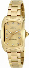 Invicta Lupah 15849 Women's Gold Tone Guilloche Analog Tonneau Stainless Watch