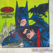 BATMAN and ROBIN LUNCH NAPKINS (16) ~ Birthday Party Supplies Large 1997 Dinner