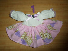 """Kitten Kitty Cat Print Button Ribbon Lace Trim for 16-18"""" Cpk Cabbage Patch"""