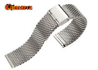 316L Stainless Steel Watch Bracelet Shark Mesh Band Silver Color Strap 12mm-26mm