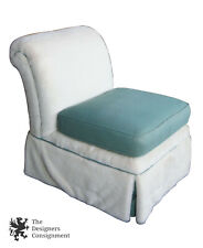 Century Furniture Armless Sipper Faux Fur Upholstered Easy Lounge Chair Budoir