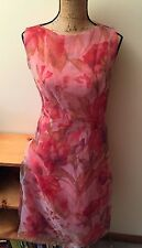 SHEER FLORAL EXE WOMEN DRESS NWT