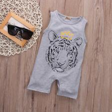 Infant Newborn Baby Girl Boys Kids Tiger Outfit Romper Bodysuit Jumpsuit Clothes
