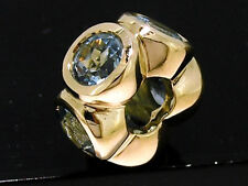 Bd039- GENUINE 9ct SOLID Yellow Gold NATURAL Topaz Bead 5 Lights Charm