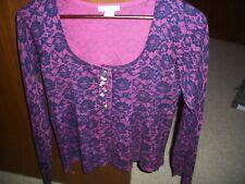 womens cardigan sweater blouse top Delia's size medium