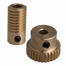 30T 0.5 Mold 1:30 Brass Worm Gear Wheel+Shaft 5MM Hole Dia for Gear Box