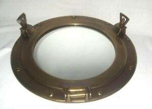 Antique Brass - Porthole Mirror - Anlaufgeschützt- No Polish