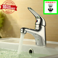 Lola 6 Modern Single Lever Chrome Monobloc Bathroom Bidet Mixer Tap with Waste
