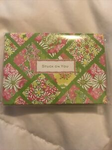NEW Sealed LILLY PULITZER Stuck On You  Bamboo Patch Set Of Sticky Notes