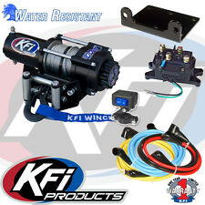 KFI 2500LBS Winch Kit & Winch Mount For 2007-2014 Yamaha YFM350FGA Grizzly 4x4