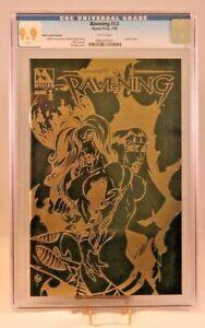 The Ravening 1/2 Black Leather/Gold Foil Edition - CGC ***9.9*** (Avatar Press)