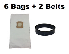 6 Vacuum Bags + 2 Belts for Kirby Ultimate G, Diamond Edition HEPA Micron Cloth